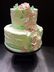 #439- Pink and Aqua Butterfly wedding