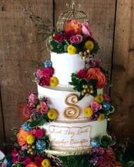 #445- Chanelle Wedding Cake