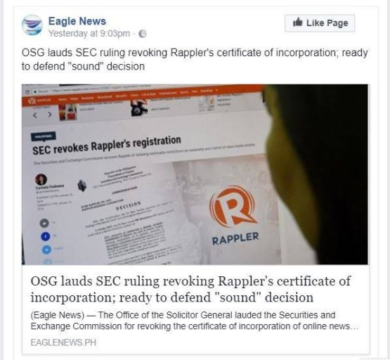 Rappler by eagle news