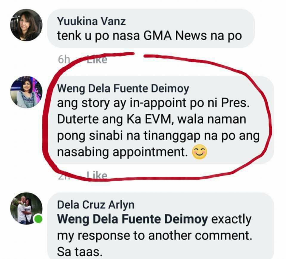 Denial of Weng Dela Fuente