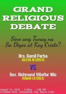 [2018.05.29] Social Media Post regarding INC Debate with Catholic Priest Father Nilo