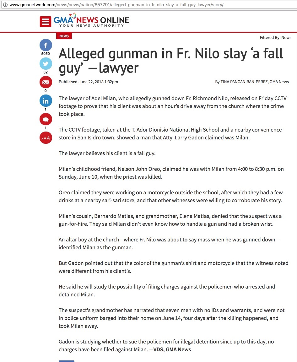 [2018.06.24] Milan - Fall Guy TV Report - http-::www.gmanetwork.com:news:news:nation:657791:alleged-gunman-in-fr-nilo-slay-a-fall-guy-lawyer:story: