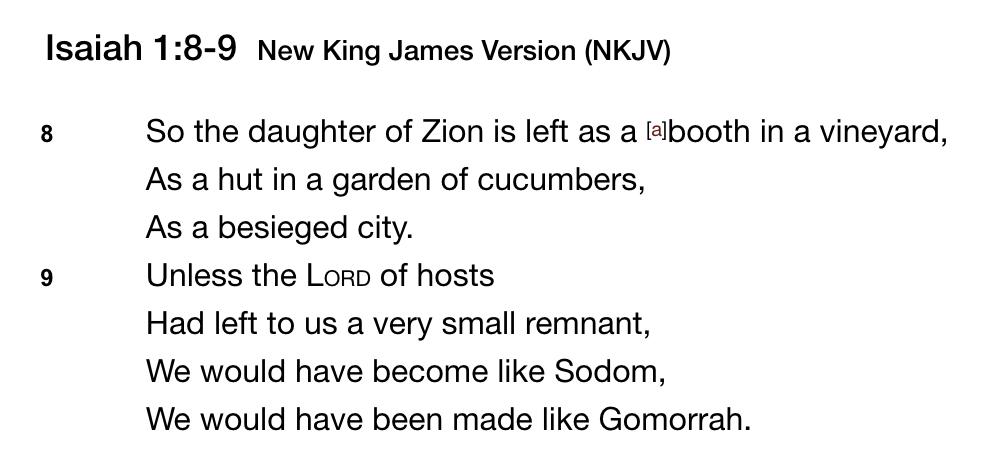 Isaiah 1,8-9