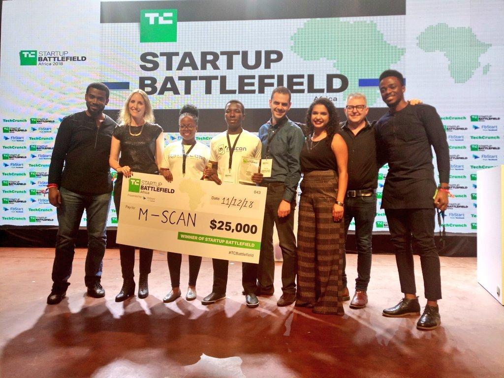 Uganda's M-SCAN scoops the winner at Techcrunch Startup Battlefield Africa
