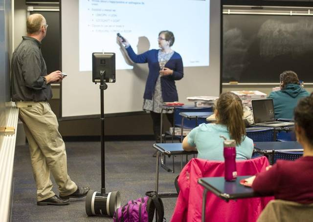 Online students can learn at classroom with friends with Double in Penn State