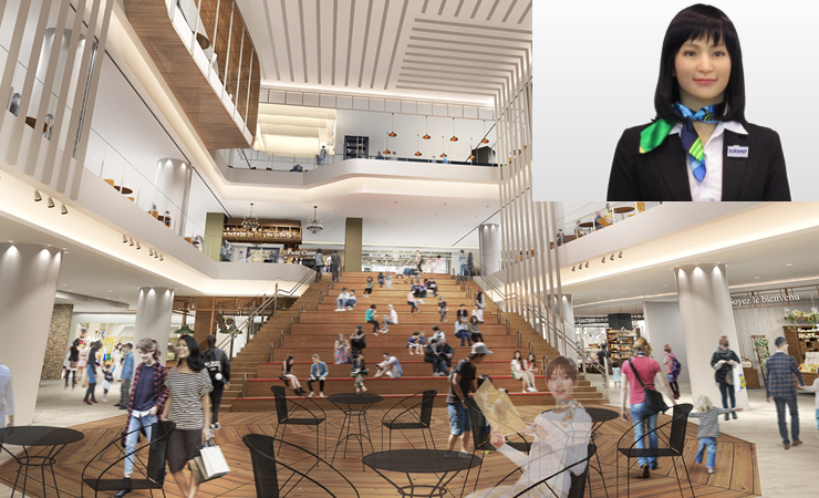 AI-Android will welcome you at Japanese luxurious shopping mall