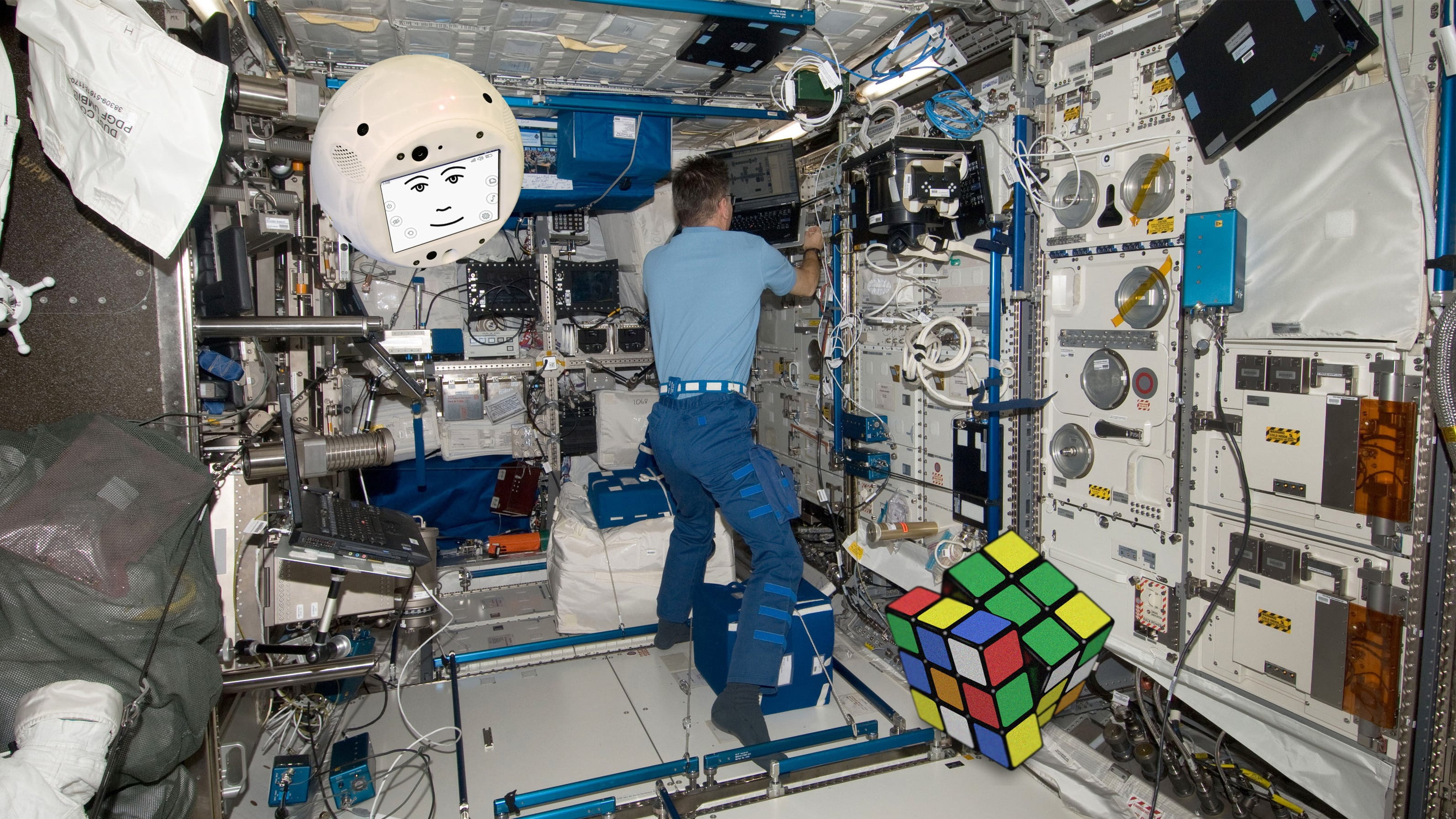 Accompanying with AI crew mate at space (International Space Station)
