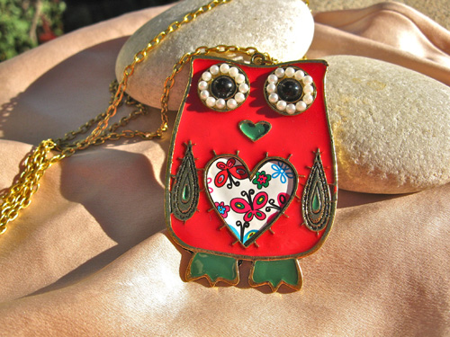 Owl protection necklace