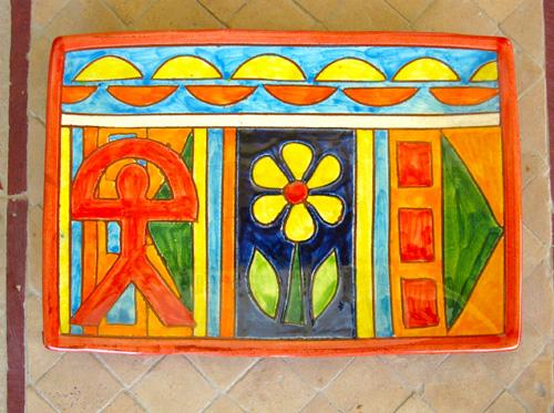 Spanish ceramic Indalo care gift