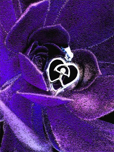 Heart in purple
