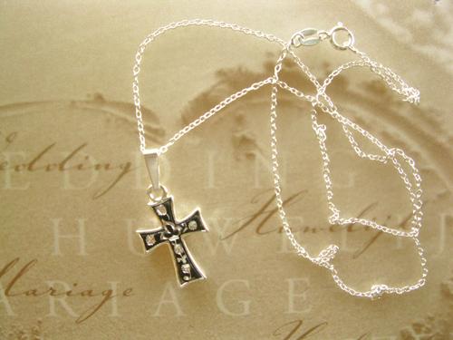 Damascene jewellery cross