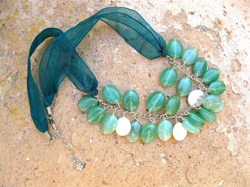 Aventurine Pearl necklace