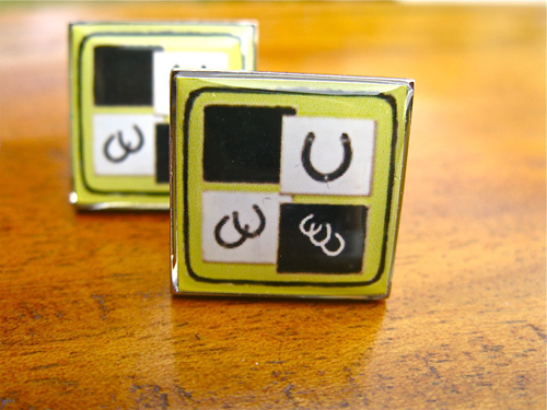 Lucky horseshoes cufflinks