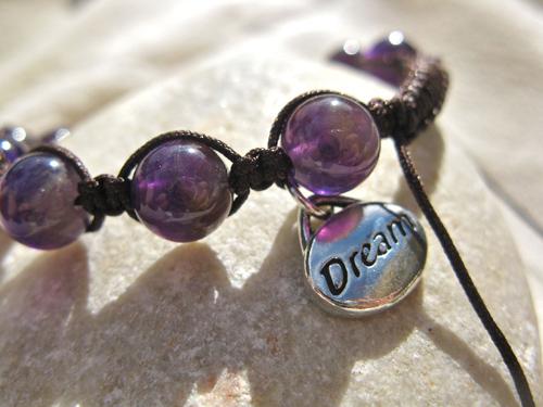 Dream Shambala amethyst bracelet