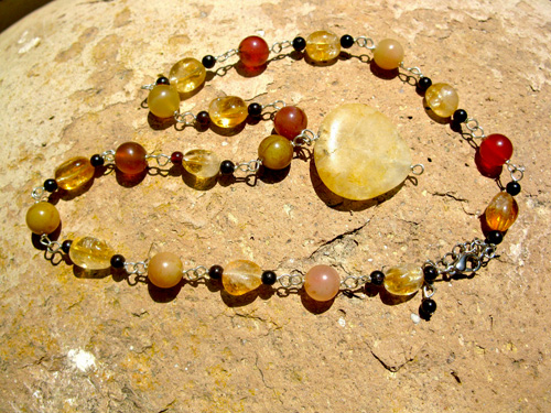 Citrine gift necklace