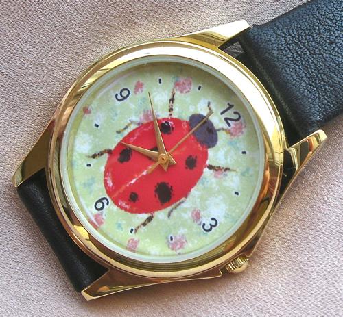 Lucky ladybird charm watch