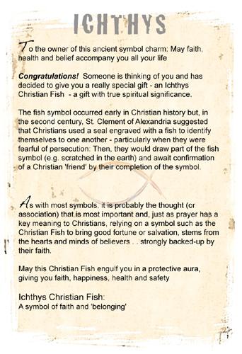 Ichthys Christian Fish symbol