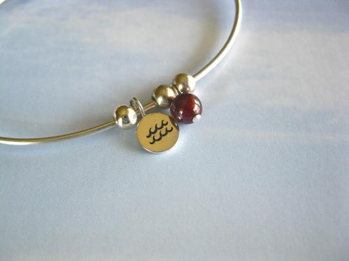 Garnet Aquarius bracelet