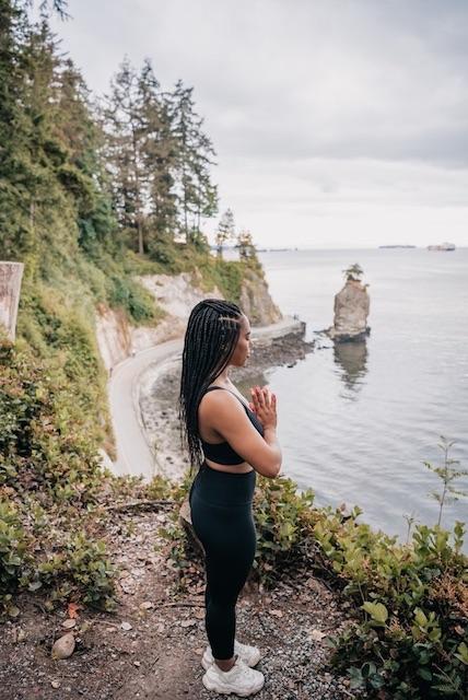 Girl praying for spiritual protection