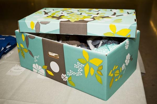 Hộp carton đựng quà cho trẻ sơ sinh