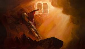 Moses receives The-Ten-Commandments