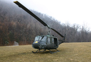 Huey on ground