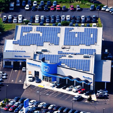 Independence Solar Completes 140 kW Rooftop Solar Installation for Brandfon Honda in Branford, CT
