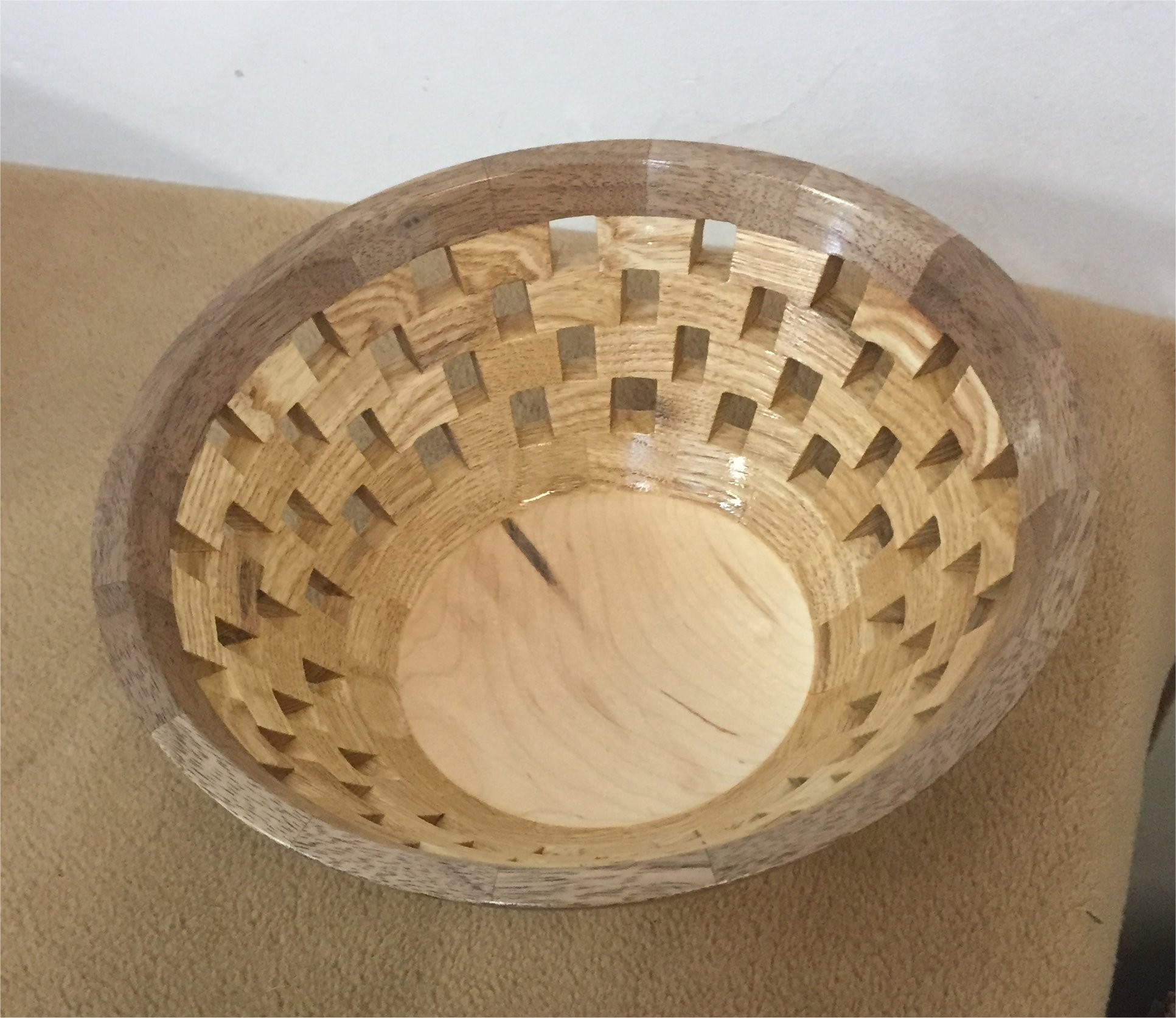 Open Segmented bowl also by Mikeal Jones