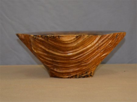 Natural edge elm bowl by Mike McReynolds