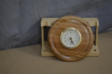 Turned clock mounting by Ron Bruno