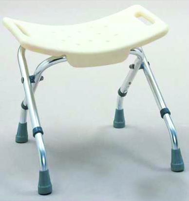Folding Bath Bench With Adjustable Back