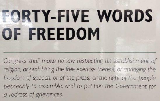Free Speech constitution first amendment