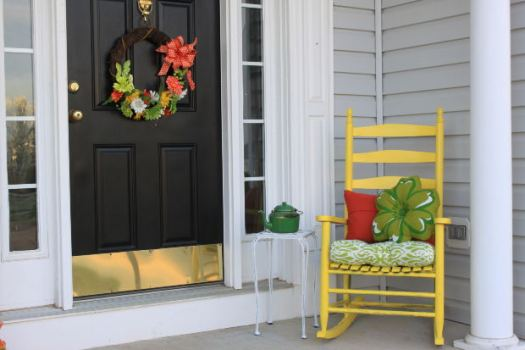 Front door porch entry black