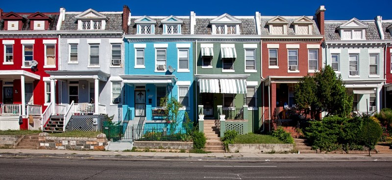 Urban townhouse row homes traditional