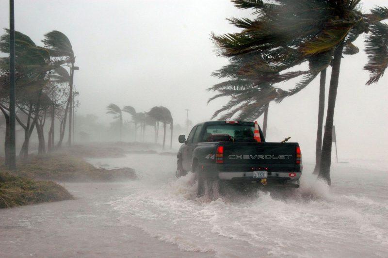 Hurricane flood road