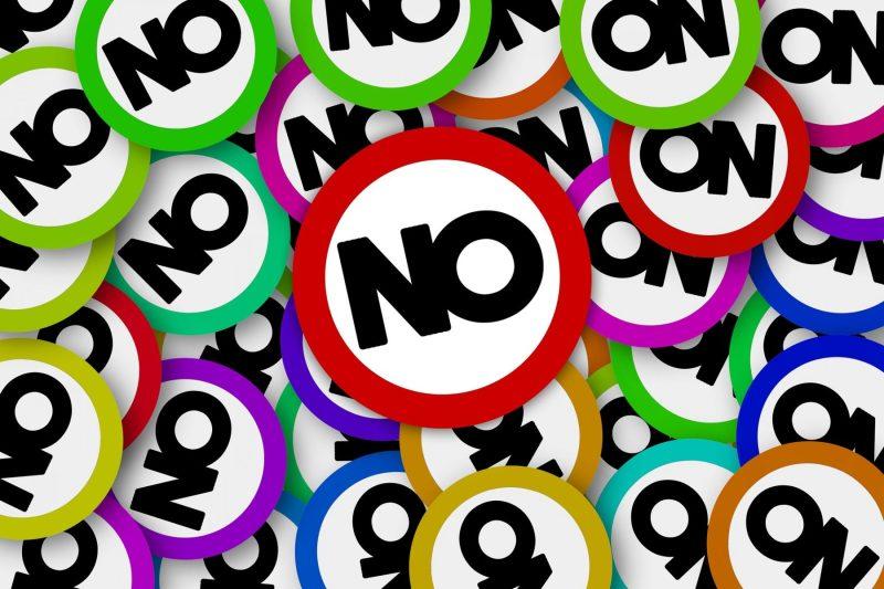 Just say No negative rejection denied