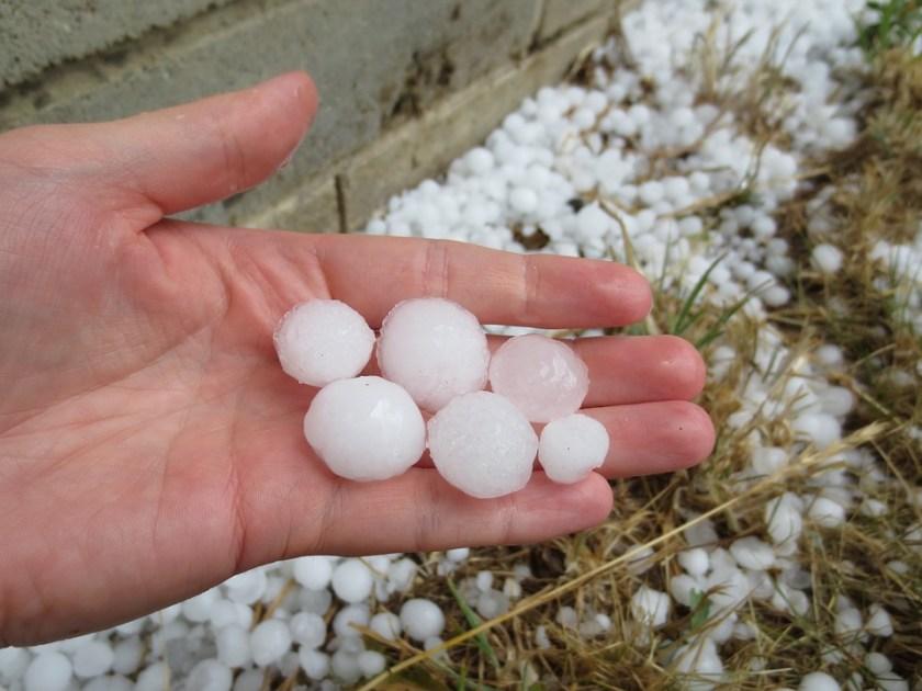 Hail stones damage