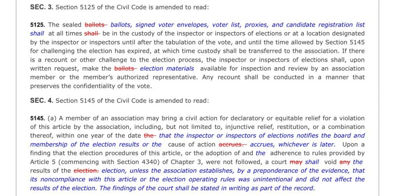 CA SB 1265 Sec 3 5125 ballot election recount challenge