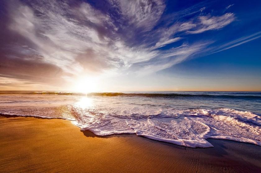 California beach ocean
