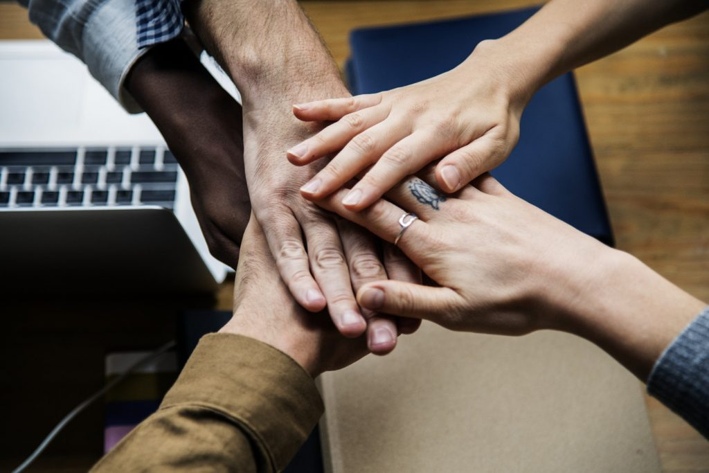 People Hands working together