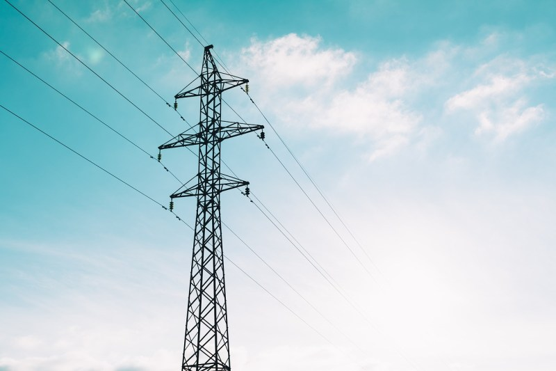 Electricity tower wires