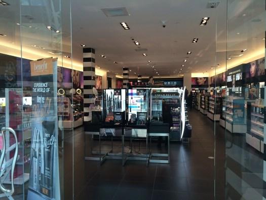 Retail store cosmetics