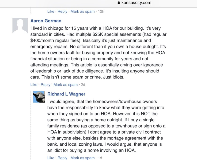 Kansas City Star reader comments 1