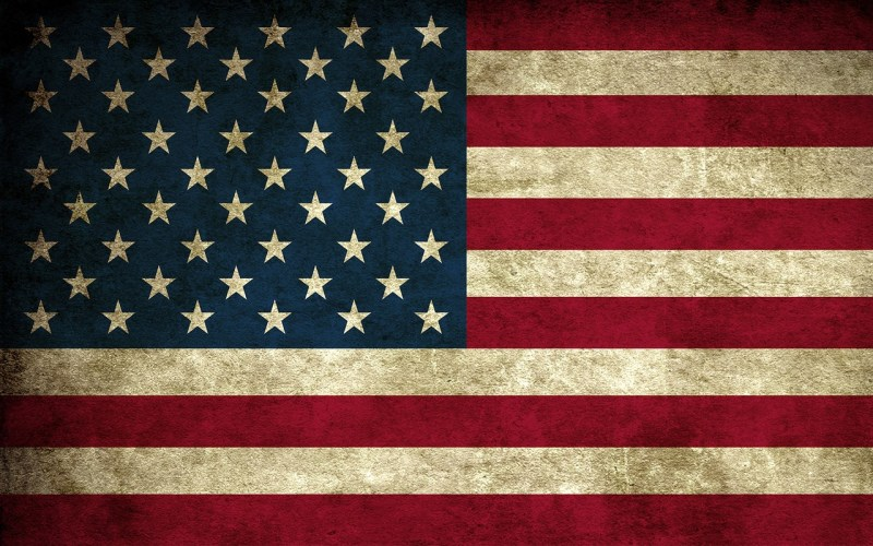 IAC American flag antiqued