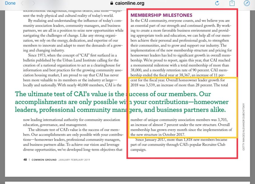 CAI 2017 annual report