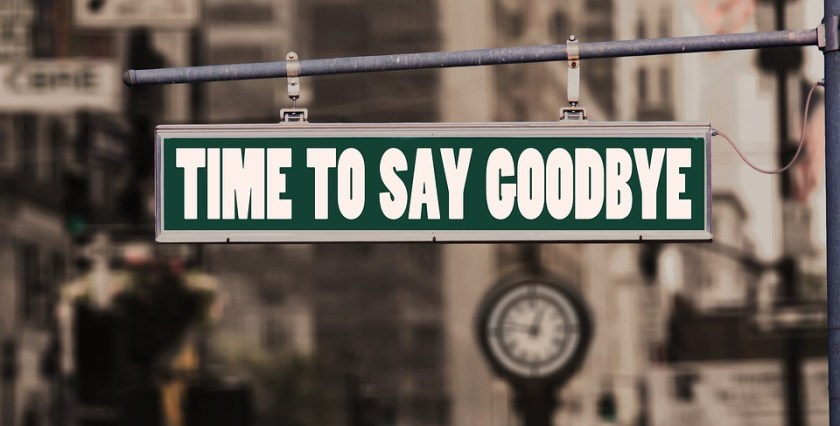 Time to say goodbye quote end terminate