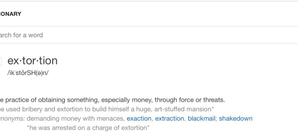 HOA extortion definition