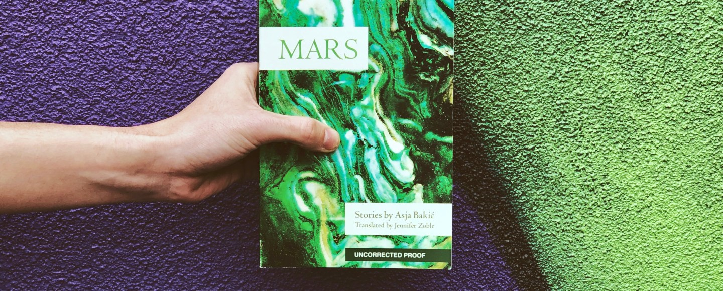 This is the featured image for Independent Book Review's review of Mars by Asja Bakic and Feminist Press.