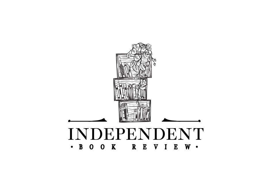 This is the Independent Book Review logo, based on our three-crate bookshelf in our living room.