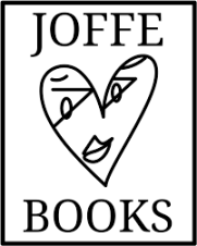 This is the Joffe Books logo, the publisher of crime, thriller, and mystery novels.
